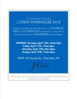 J. Crew Warehouse Sale